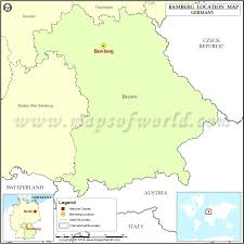 bamberg germany map where is bamberg location of bamberg in germany map