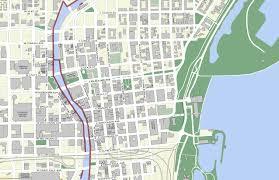 Milwaukee Wisconsin Map by Downtown Riverwalk