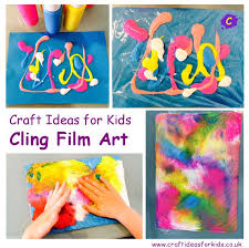 craft ideas for cling plastic