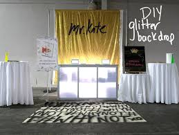Glitter Backdrop Mr Kate Diy Glitter Backdrop