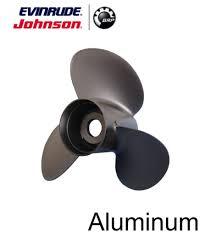 johnson evinrude e tec 3 blade aluminum v 4 prop propeller 13 1 4
