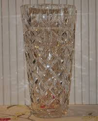 Antique Lead Crystal Vase Vintage Lead Crystal Vase Made In Germany