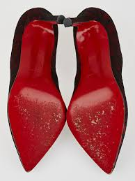 christian louboutin red black lace pigalle 100 pumps size 4 34 5