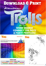 free printable halloween word search trolls movie printables word search connect the dots and party