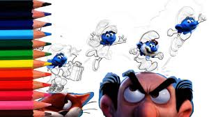 smurfs movie smurfs coloring pages coloring books for kids