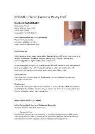Demi Chef De Partie Resume Sample Chef De Partie Resume Sle 28 Images Sle Cook Resume Resume Cv