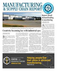 Now Open For Supply Chain Manufacturing Supply Chain Report November 14 2016 By Sc Biz