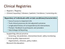 data registries health research clinical registries electronic health records how