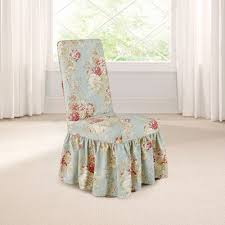 dining room chair slip cover fit waverly ballad bouquet long dining room chair slipcover