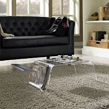 Black Leather Sofa Living Room by Living Room Filled Black Leather Sofa And Clear Acrylic Coffee
