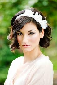 white flower headband hairstyles wedding hairstyles with white flower