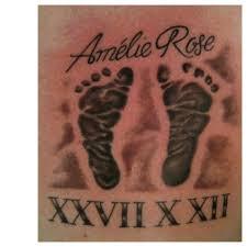 irish street tattoo baby name date and footprints mum u0026 dad