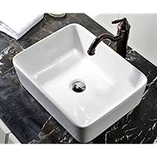 Above Counter Bathroom Sinks Canada Vigo Rectangular Copper Glass Vessel Bathroom Sink Amazon Com