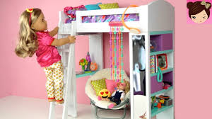 Bunk Bed Bedroom Doll Bunk Bed Bedroom Morning Routine Back To School Ag Doll
