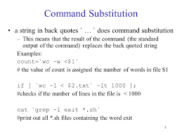 Count No Of Words In Unix 1 Lecture 9 Shell Programming Command Substitution Regular