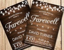 farewell party invitation farewell party invitation farewell invitation rustic farewell