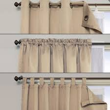 products in blackout and lined window curtains decor on linen chest