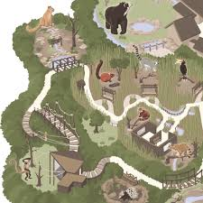 Zoo Map Making The Nashville Zoo Map U2014 Carden Illustration