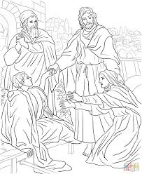 jesus raises lazarus from the dead coloring page free printable