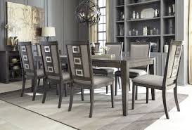 Black Dining Room Sets Chadoni Gray Rectangular Extendable Dining Room Set From