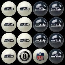 amazon com nfl seattle seahawks billiards ball set sports fan