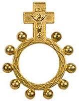 catholic rosary ring catholic rosary rings one decade