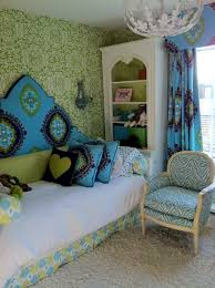 bedroom bed skirt with bedding and throw pillows also upholstered
