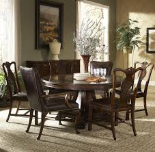 7 piece round dining table with splat back dining side chairs and