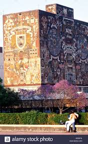 university city library with mural by juan o gorman mexico city stock photo university city library with mural by juan o gorman mexico city mexico