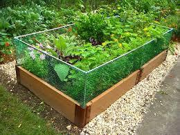 Cedar Raised Garden Bed Raised Garden Bed Rabbit Fence
