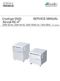 cryofuge 5500i sorvall rc4 120 200 208 english power supply