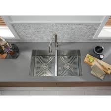 Elkay Crosstown Sink by Sterling Ludington Undermount Stainless Steel 32 In 50 50 Double