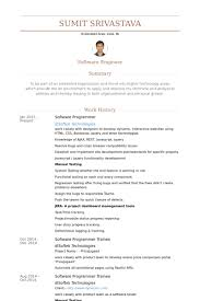 Sample Resume For Java Developer by Software Programmer Resume Samples Visualcv Resume Samples Database
