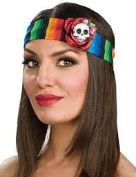 day of the dead headband womens day of the dead serape headband costume craze