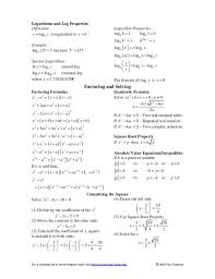 a list of algebraic formulas to help you process your math problems better