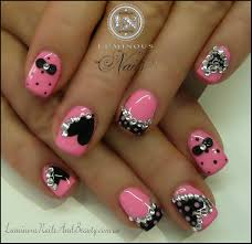 glitter and 3d bow nail designs www sbbb info