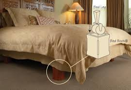Platform Bed Skirt - bed with bed boots designed to cover the legs of metal bed frames