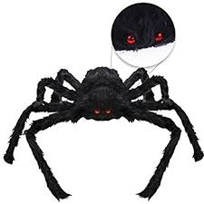 amazon com verkb halloween creepy giant spider decor 75cm scary