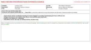 Cabinet Maker Job Description by Second Steward Stewardess Cv Work Experience Samples