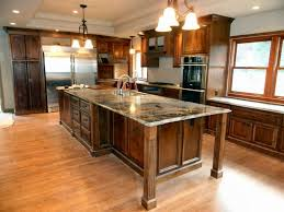 Kitchen Island That Seats 4 Large Island With Seating Also Additinal Storage Cabinets On The