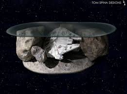 Star Wars Office Decor Millennium Falcon Coffee Table Star Wars Asteroid Chase Tom
