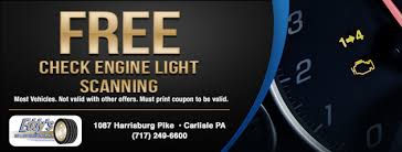 Check Engine Light Oil Change Tires Coupons Carlisle Pa Mechanicsburg Pa Shippensburg Pa