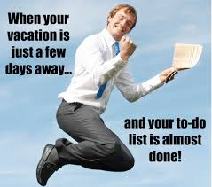 Meme Vacation - tips to stay focused as your vacation draws near