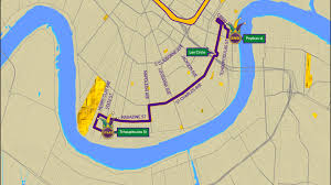 New Orleans Parade Routes Map by Thoth Parade Route Wwltv Com