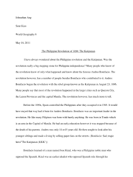 research paper about jose rizal katipunan research paper wars of independence revolutions