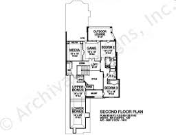 danville deux narrow house plan courtyard house plan