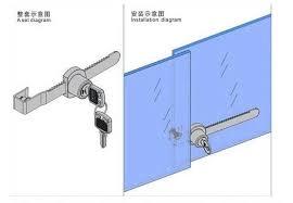Glass Cabinet With Lock 2pcs Universal Key Type Sliding Glass Cabinet Door Lock Vitrine