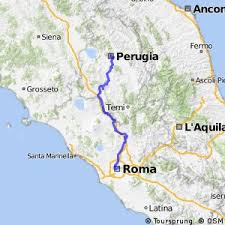 map of perugia cycling routes and bike maps in and around perugia bikemap