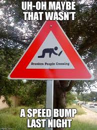 Speed Bump Meme - uh oh maybe that wasn t a speed bump last night