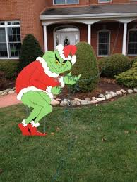 the grinch yard and outdoor decorations